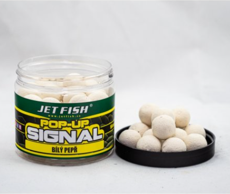 Jet Fish SIGNAL Pop Up boilies Bílý pepř 16mm/60g