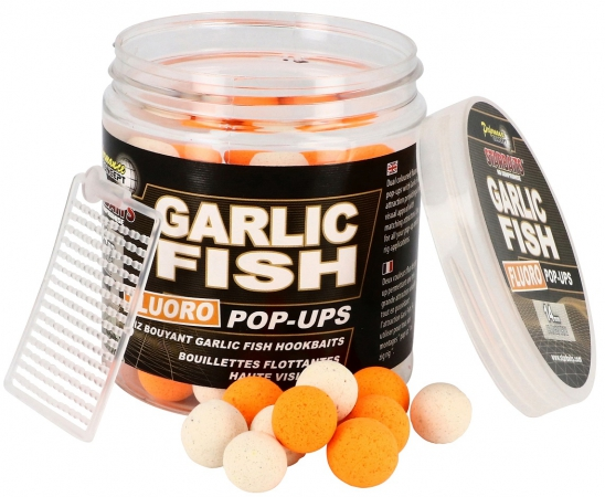Starbaits Plovoucí boilies Fluo Concept Garlic Fish 14mm/80g