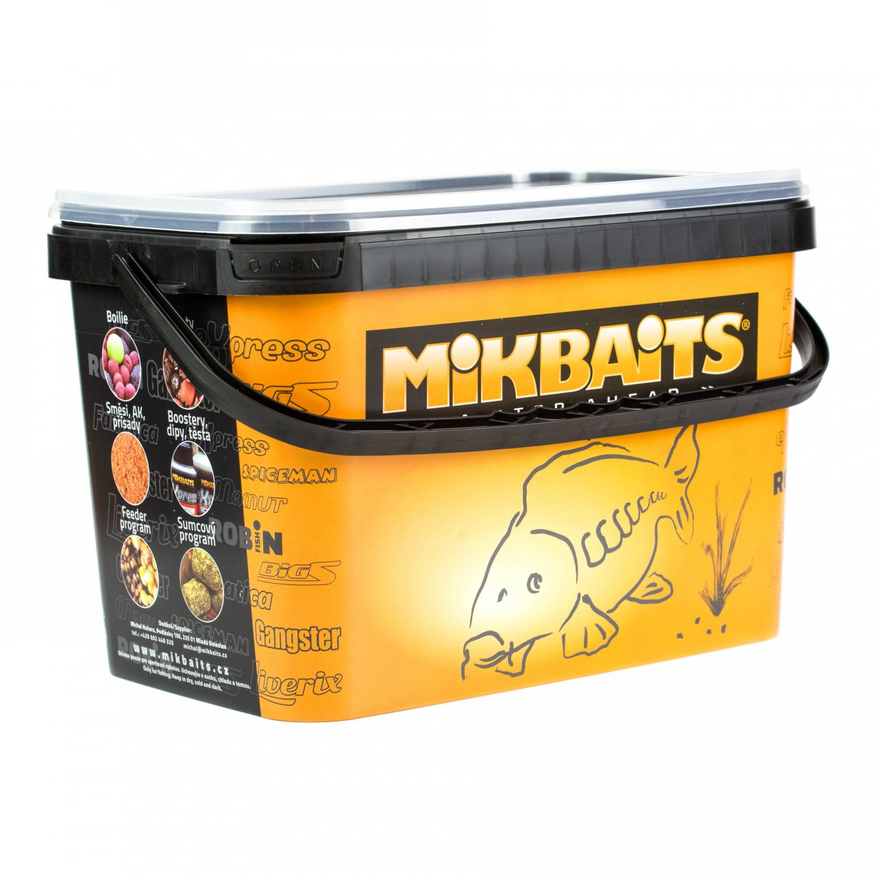 Mikbaits BiG boilie BigB Broskev Black pepper 20mm/2,5kg