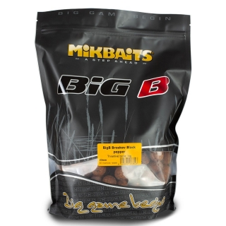 Mikbaits BiG boilie BigB Broskev Black pepper 20mm/10kg