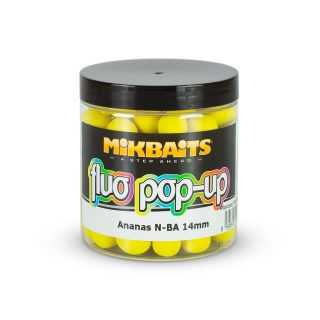 Mikbaits Fluo pop-up boilie Ananas N-BA 14mm/250ml