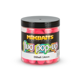 Mikbaits Fluo pop-up boilie Oliheň 14mm/250ml