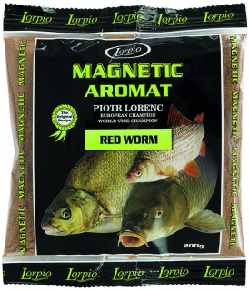 Lorpio AROMAT Magnetic Red Worm 200g